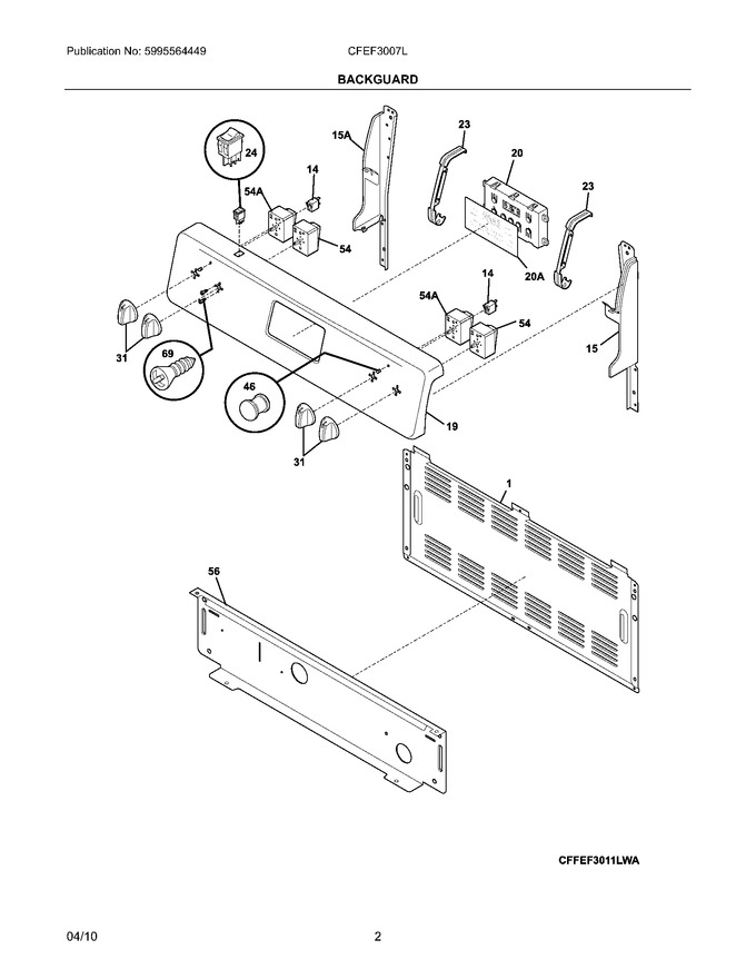 Diagram for CFEF3007LWA