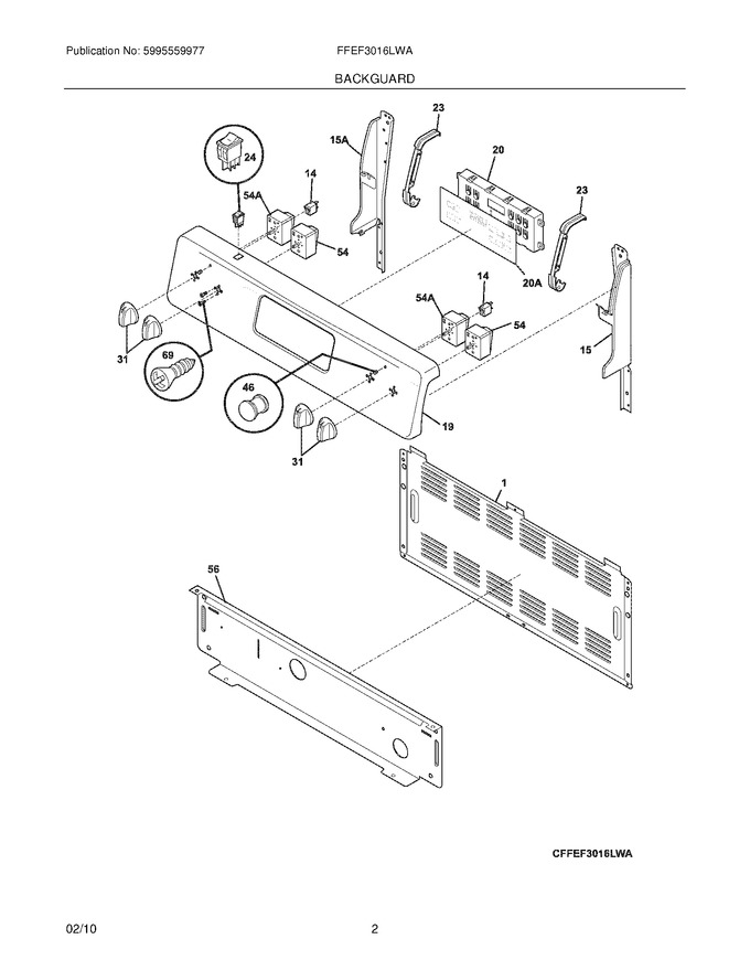 Diagram for FFEF3016LWA