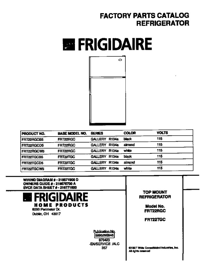 Diagram for FRT22RGCB5