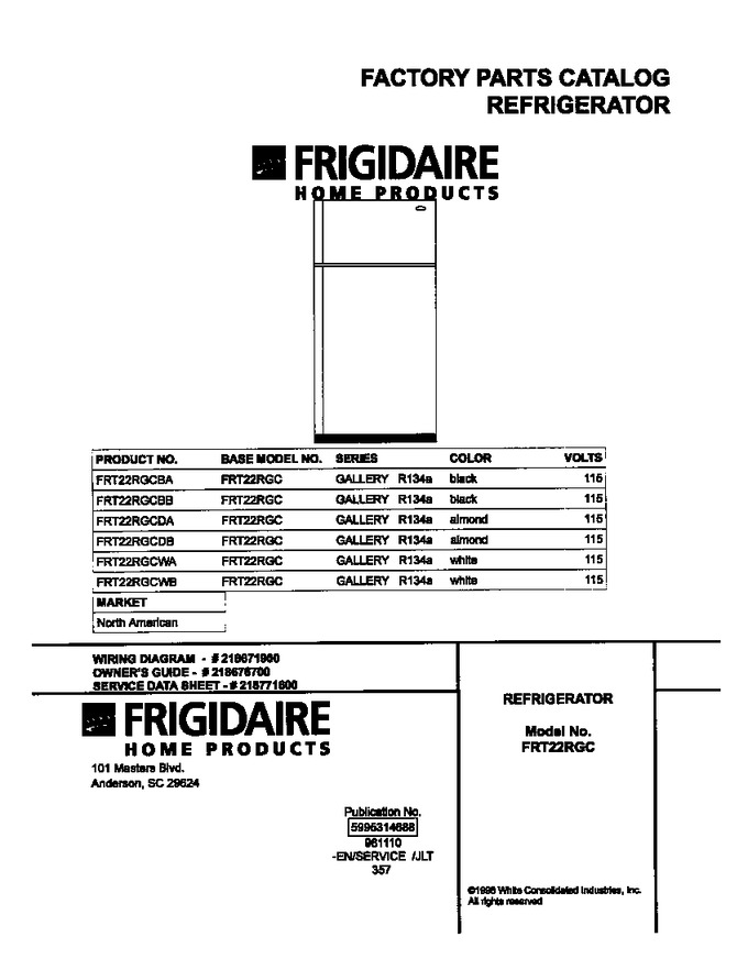 Diagram for FRT22RGCBB