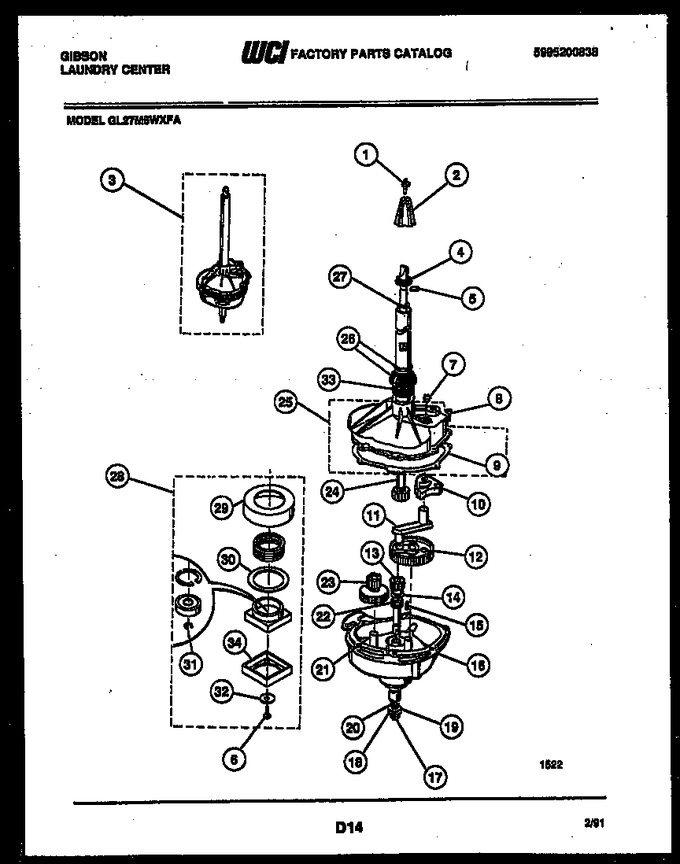 Diagram for GL27M6WXFA