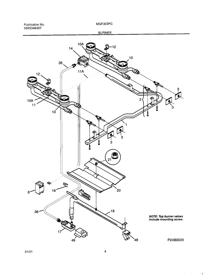 Diagram for MGF303PGWH