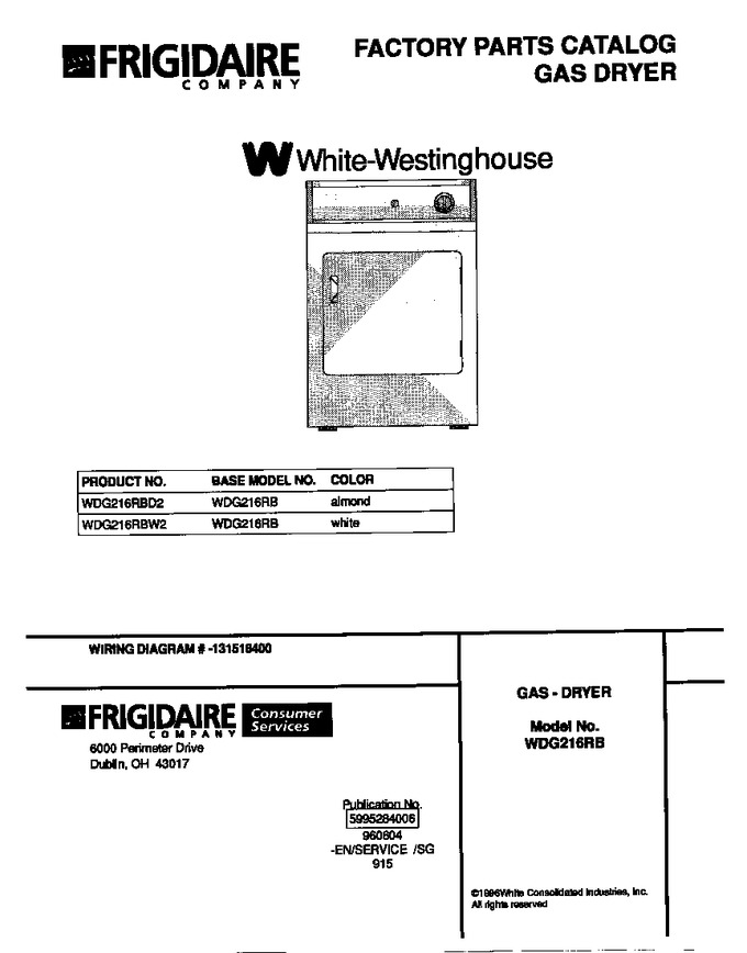 Diagram for WDG216RBD2