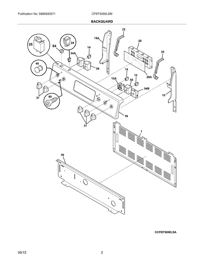 Diagram for CFEF3050LSM