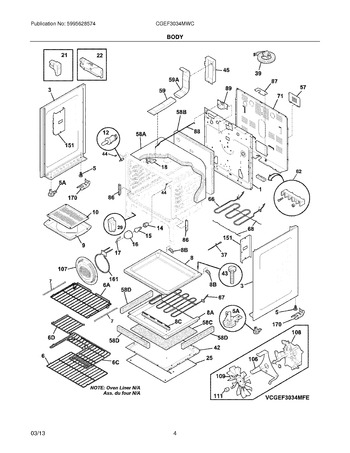 Diagram for CGEF3034MWC