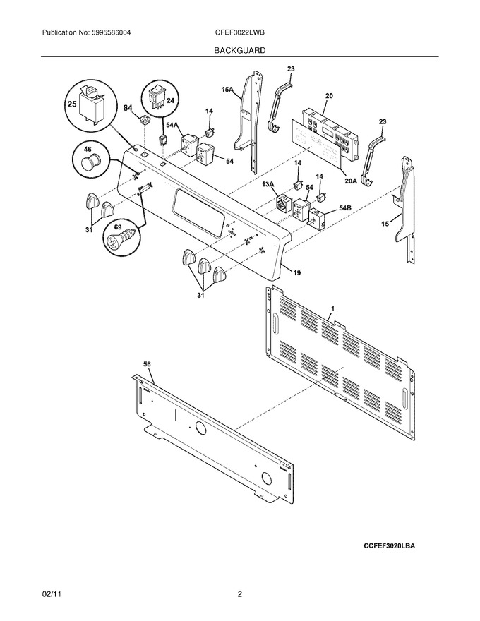 Diagram for CFEF3022LWB