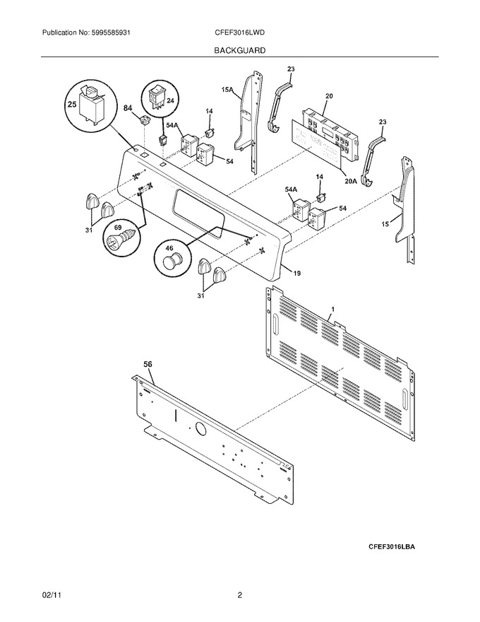 Diagram for CFEF3016LWD