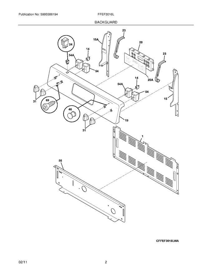 Diagram for FFEF3016LWC