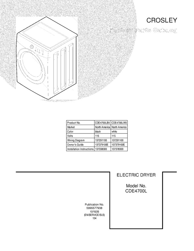 Diagram for CDE4700LW0