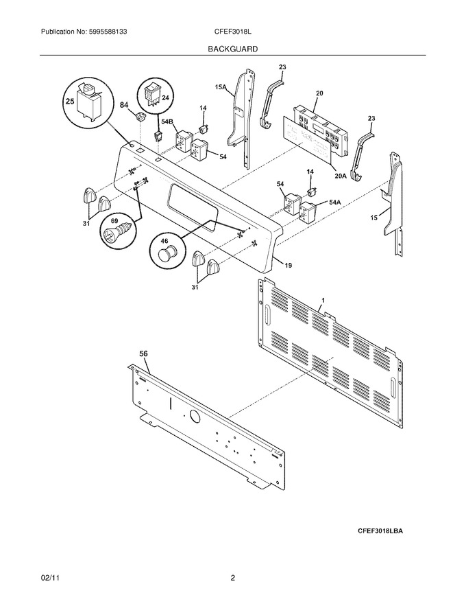 Diagram for CFEF3018LWD