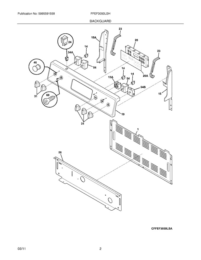 Diagram for FFEF3050LSH