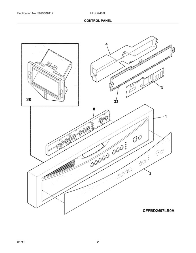 Diagram for FFBD2407LW1B