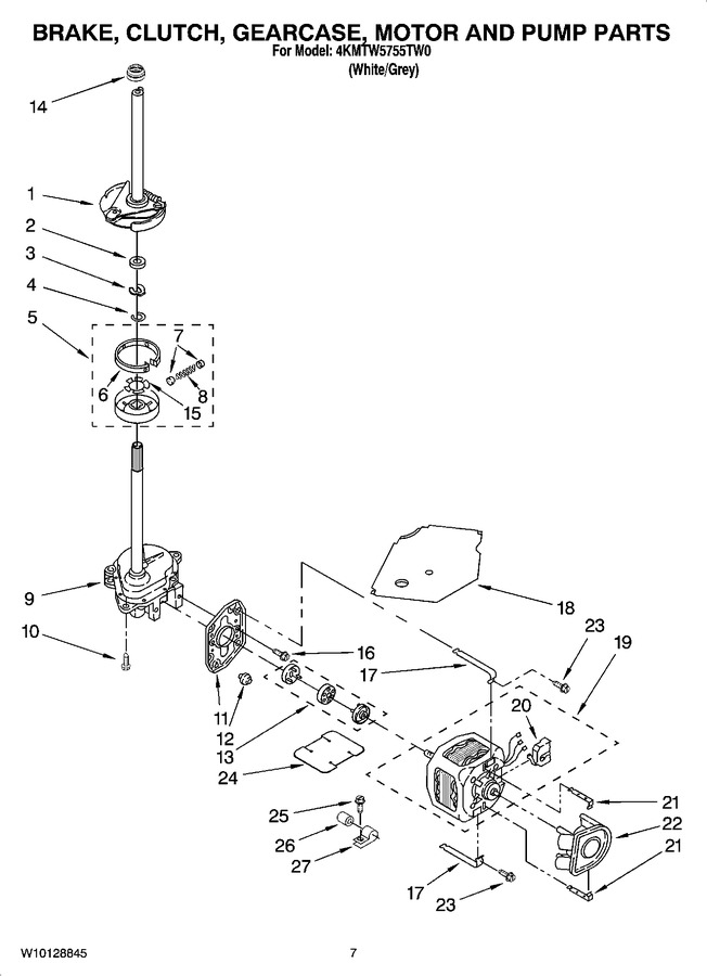 Diagram for 4KMTW5755TW0