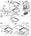 Diagram for 03 - Deli, Shelves, Crisper Assemblies & Acs