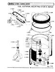 Diagram for 09 - Tub, Agitator, Mounting Stem &