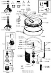 Diagram for 06 - Tub, Agitator, Mtg. Stem, Hoses &