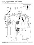 Diagram for 01 - Cabinet, Water Valve, Hoses & Frnt Panel