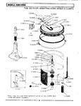 Diagram for 10 - Tub, Agitator, Mtg. Stem, Hoses & Clamps