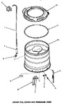 Diagram for 16 - Outer Tub, Cover & Pressure Hose