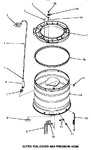 Diagram for 14 - Outer Tub, Cover & Pressure Hose