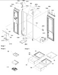 Diagram for 14 - Refrigerator/freezer Lights & Hinges