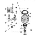 Diagram for 03 - Agitator/drive Bell/seal Kit/tub & Hub