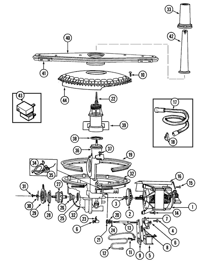 Diagram for DW731W