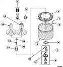 Diagram for 02 - Agitator/drive Bell/seal Kit/tub & Hub