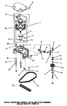 Diagram for 13 - Motor, Mtg Bracket, Belts & Idler Assy