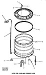 Diagram for 15 - Outer Tub, Cover & Pressure Hose