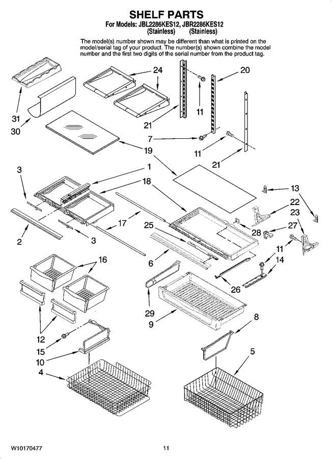 Diagram for JBL2286KES12