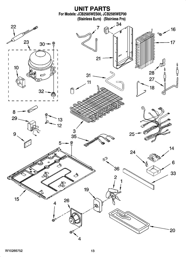 Diagram for JCB2585WES00