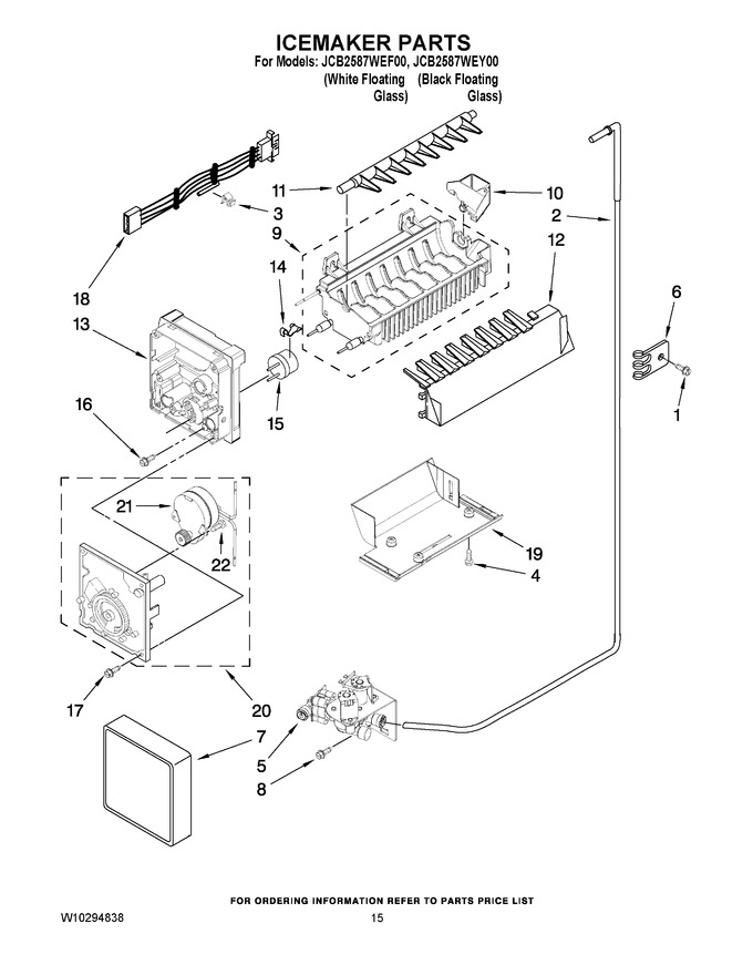 Diagram for JCB2587WEF00