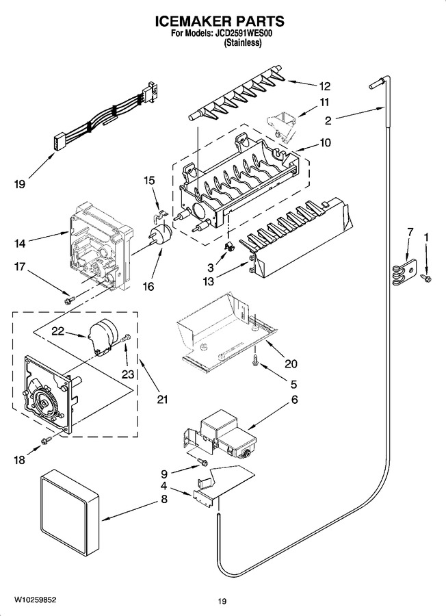 Diagram for JCD2591WES00