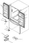 Diagram for 13 - Ref Dr Storage & Center Hinges