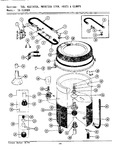 Diagram for 14 - Tub, Agitator, Mtg. Stem, Hoses & Clamps