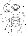 Diagram for 14 - Outer Tub/outer Tub Cover & Press Hose