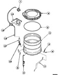 Diagram for 13 - Outer Tub/outer Tub Cover & Press Hose