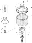 Diagram for 01 - Agitator, Drive Bell, Washtub And Hub