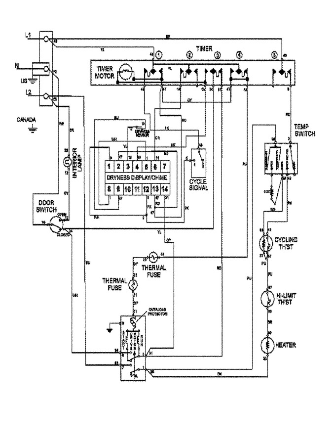 Diagram for MDE7400AYW