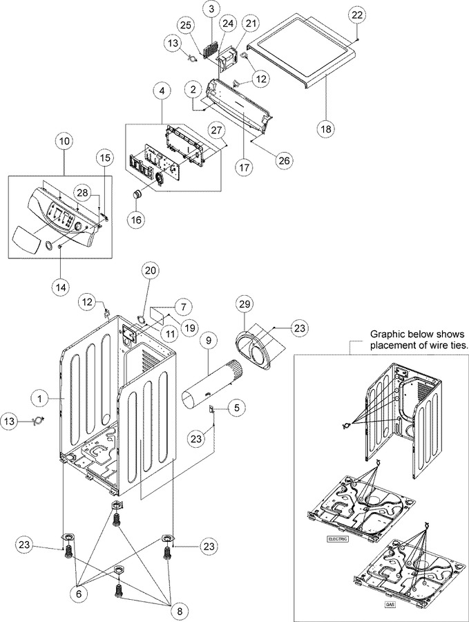 Diagram for MDE9700AZW