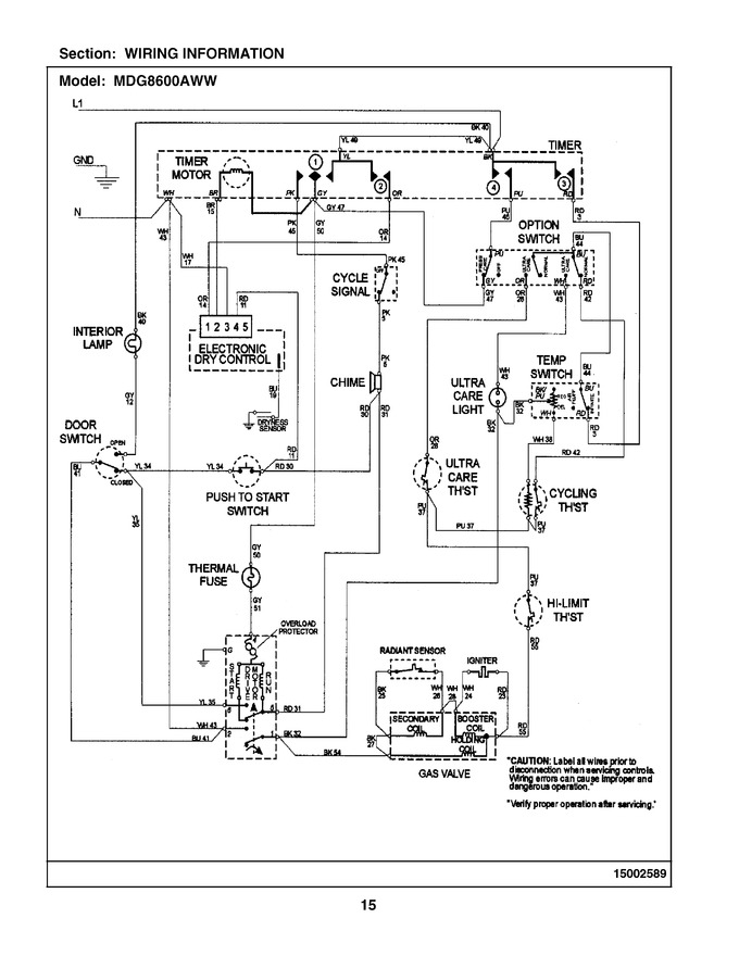Diagram for MDG8600AWW