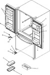 Diagram for 14 - Ref Dr Storage & Center Hinges