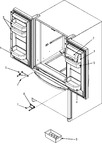 Diagram for 12 - Ref Dr Storage & Center Hinges