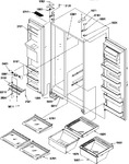 Diagram for 11 - Ref/fz Shelves, Lights, And Hinges