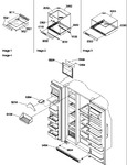 Diagram for 12 - Shelf, Crisper Assemblies & Toe Grill