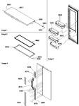 Diagram for 11 - Refrig Door & Trim And Handles