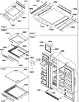Diagram for 12 - Shelving, Crisper Assemblies & Toe Grill