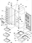 Diagram for 12 - Refrig/fz Shelves/lights/lights/& Hinges