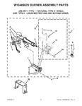 Diagram for 04 - W10469829 Burner Assembly Parts